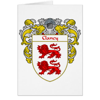 Clancy Coat of Arms (Mantled) Card