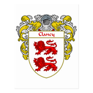 Clancy Coat of Arms (Mantled) Postcard