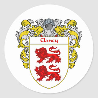 Clancy Coat of Arms (Mantled) Classic Round Sticker