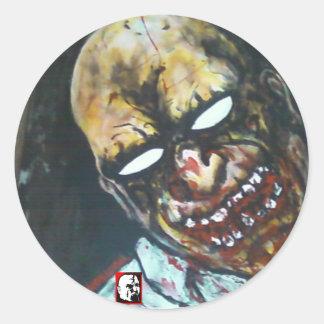 Clancy el zombi pegatina redonda
