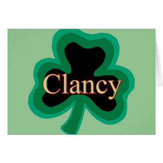 Clancy Family Card