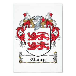 Clancy Family Crest Card