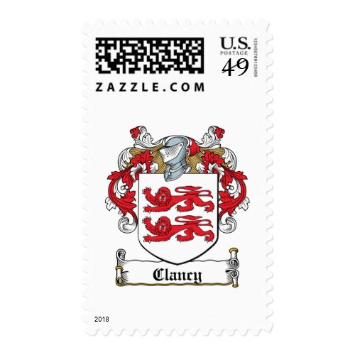 Clancy Family Crest Postage