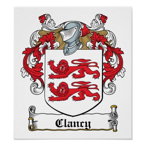 Clancy Family Crest Posters