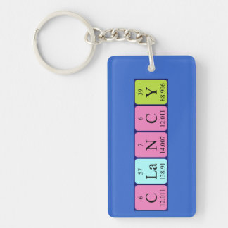 Clancy periodic table name keyring keychain