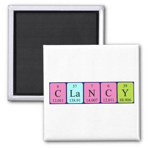 Clancy periodic table name magnet