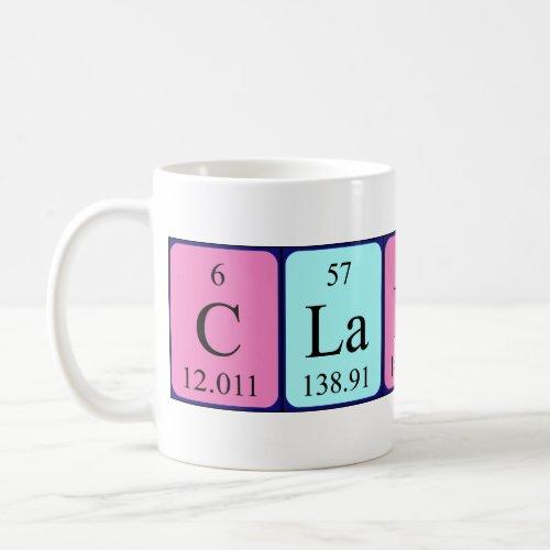 Clancy periodic table name mug