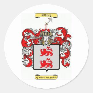 clancy classic round sticker