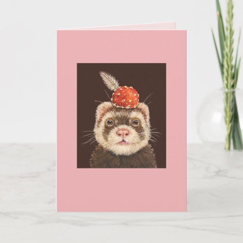 Clancy the ferret card