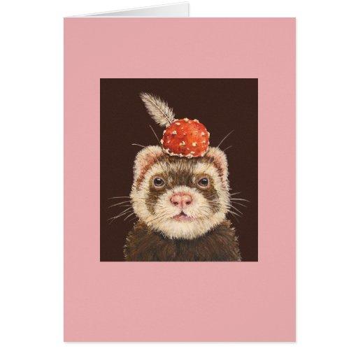 Clancy the ferret card
