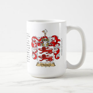 Clancy, the Origin, the Meaning and the Crest Classic White Coffee Mug