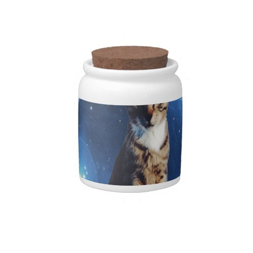 Clancy the Space Cat Candy Jar