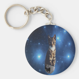 Clancy the Space Cat Keychain