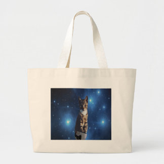 Clancy the Space Cat Large Tote Bag