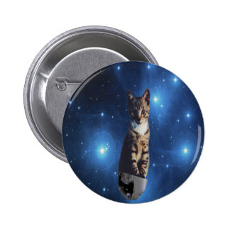 Clancy the Space Cat Pinback Button