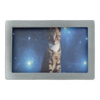 Clancy the Space Cat Rectangular Belt Buckle