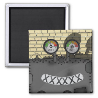 Clank the Machine 2 Inch Square Magnet