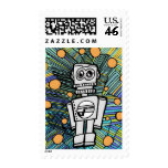 CLANKY M-12 ROBOT Postage Stamps