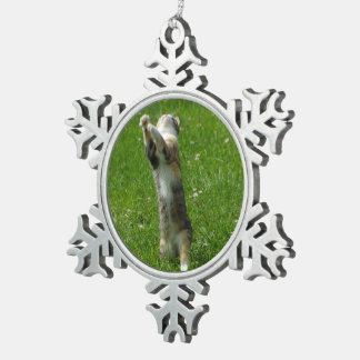Clap you hands and stamp your feet snowflake pewter christmas ornament