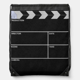 clapboard cinema drawstring backpack