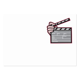 Clapboard Clapperboard Clapper Front Business Card Template