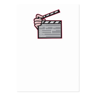Clapboard Clapperboard Clapper Front Business Card Templates