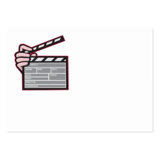 Clapboard Clapperboard Clapper Front Business Cards
