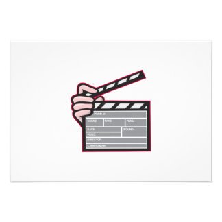 Clapboard Clapperboard Clapper Front Personalized Announcements
