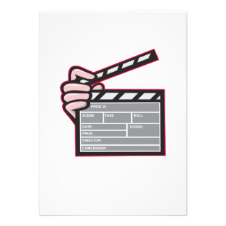 Clapboard Clapperboard Clapper Front Custom Announcements