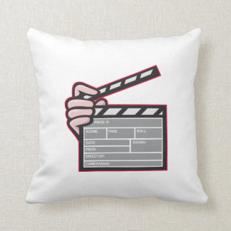 Clapboard Clapperboard Clapper Front Pillows