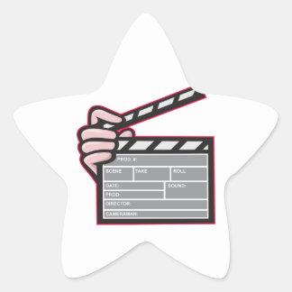 Clapboard Clapperboard Clapper Front Sticker