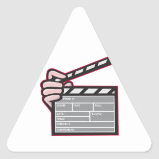 Clapboard Clapperboard Clapper Front Triangle Stickers