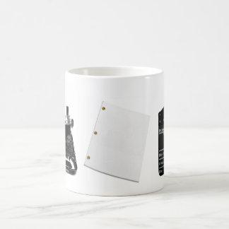 Clapboard, FADE IN, script Coffee Mug