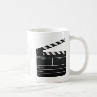 Clapboard, FADE IN, script Mug