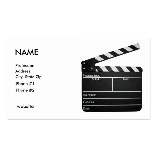 clapboard filmmaker business card customized - Filmmaker Business Card