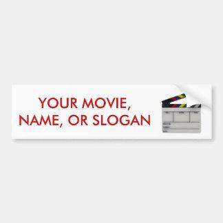 Clapboard movie filmmaker slate car bumper sticker