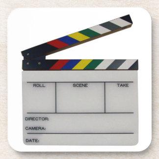 Clapboard movie filmmaker slate Coasters