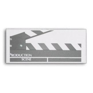 Clapboard movie filmmaker slate envelope