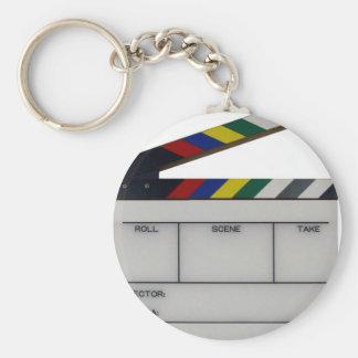 Clapboard movie filmmaker slate keychain