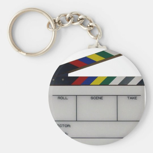 Clapboard movie filmmaker slate keychain