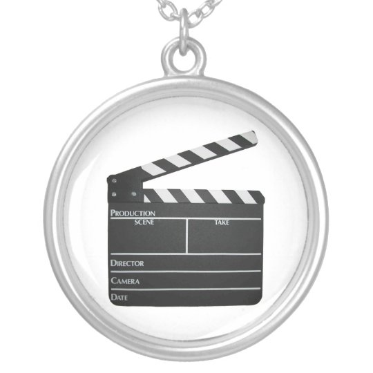 Clapboard movie filmmaker slate Necklace