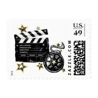 CLAPBOARD MOVIE REEL STAMPS
