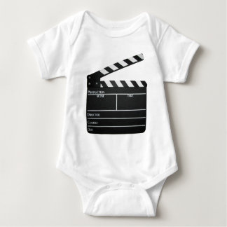 Clapboard movie slate clapper film baby bodysuit