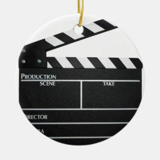 Clapboard movie slate clapper film ceramic ornament