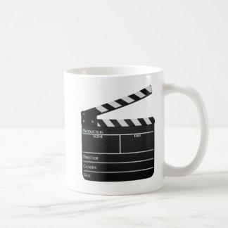 Clapboard movie slate clapper film coffee mug