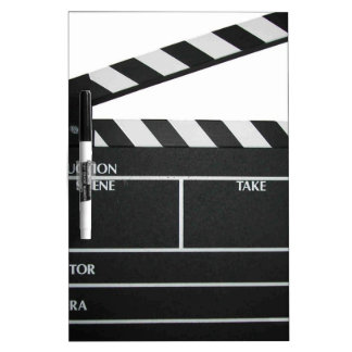Clapboard movie slate clapper film Dry-Erase board