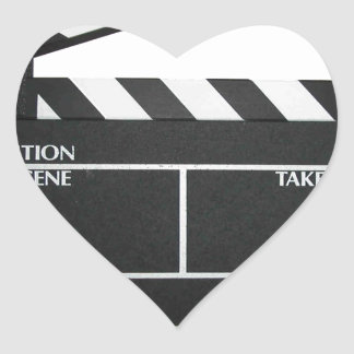 Clapboard movie slate clapper film heart sticker