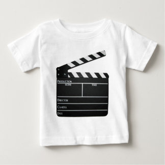 Clapboard movie slate clapper film infant t-shirt