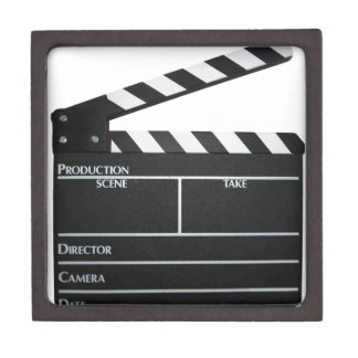Clapboard movie slate clapper film jewelry box