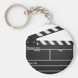 Clapboard movie slate clapper film keychain
